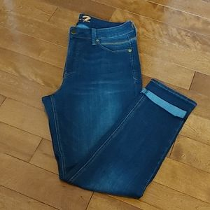 Seven7 jeans medium wash high waist size 14x30